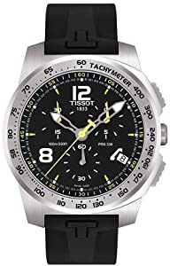 Mens Watch Tissot T0364171705700 T-Sport Stainless Steel T-Sport Chronograph Bla
