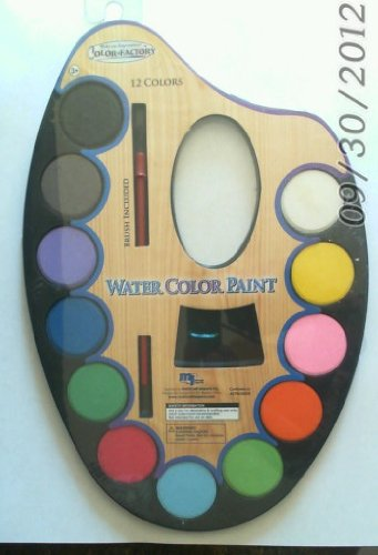 Color Factory 12 Water Color with Brush and Palette