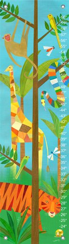 "Oopsy Daisy Growth Chart, Giraffe in The Jungle, 12"" x 42"""