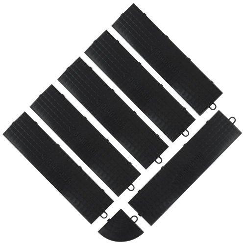Gladiator GarageWorks GAFA06MEPB 6-Piece and 1 Corner Black Edge Trim, Male