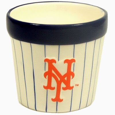 "Amazon.com : NEW YORK METS OFFICIAL LOGO 4.5"" CERAMIC FLOWER POT"