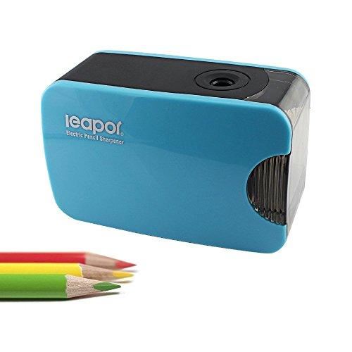 NIUTOP Elettrico automatico temperamatite, batteria o USB alimentato ~ blu