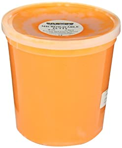 Cando 10-2715 Soft Orange Microwavable Putty, 5 lbs Container