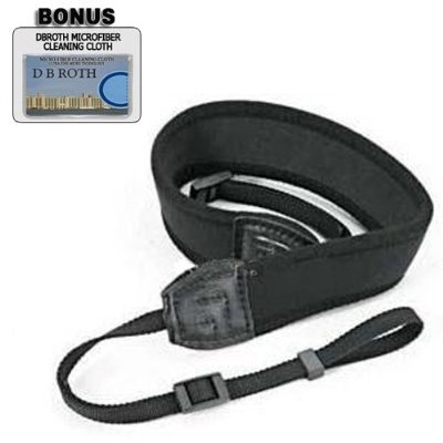 Deluxe Neoprene Black Wide Neck Strap For The Jvc Everio Gz-Hd6, Hd7, Hd3, Mg555 High Definition Camcorders
