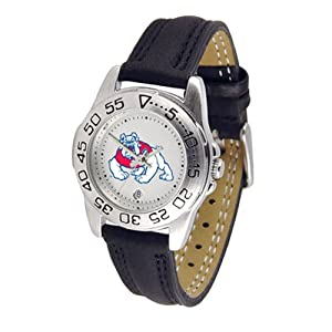 Fresno State Bulldogs NCAA Sport Ladies Watch (Leather Band) by SunTime