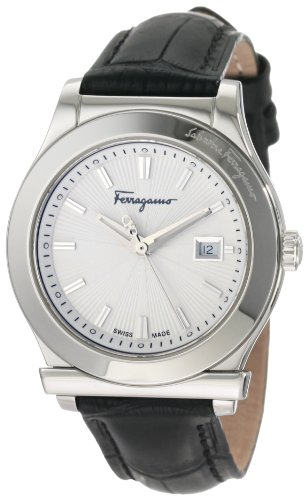 Ferragamo Women's F63SBQ9902 S009 1898 Genuine Leather Date Watch