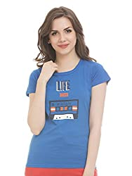 Clovia Trendy Graphic T-Shirt In Cotton
