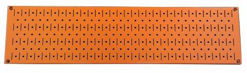 Wall Control Narrow Pegboard Rack 8In X 32In Orange Metal Pegboard Runner Tool Board
