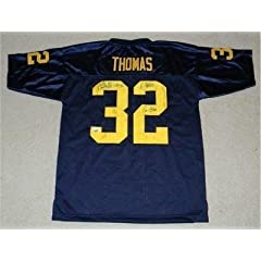 Anthony A-train Thomas Signed Autographed Michigan Wolverines #32 Jersey Mm -...