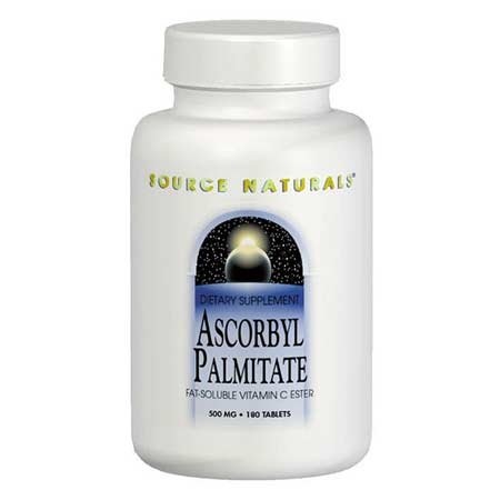 Source Naturals - Ascorbyl Palmitate, 500Mg, 180 Capsules