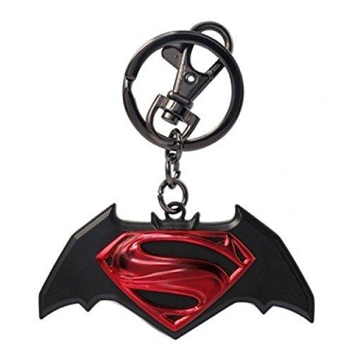 Catena portachiavi in metallo con Logo di Batman, Superman v colorato nuova licenza 45421 Toys