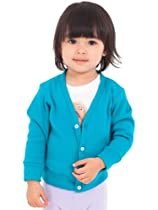 American Apparel Infant Solid Rib Cardigan - Mermaid Green / 3-6M