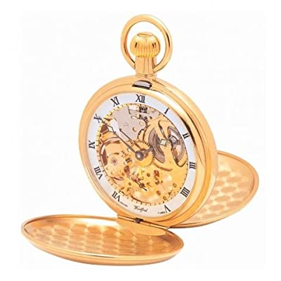 Woodford Pocket Watch 1014 Gold Plated Twin Lid