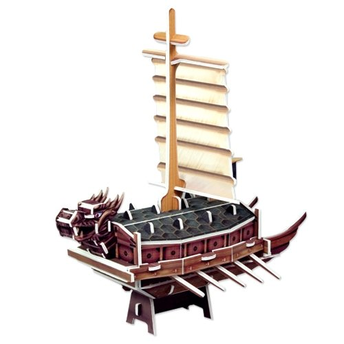 Jigsaw 3D Puzzle Korea Culture Series - Turtle Ship (Small) - 1