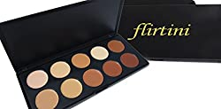 Flirtini 3 D Look Cream Foundation And Camouflage Concealer 10 Color Versatile Uses For Cheeks,Lips,And Eyes. Cream Nature, Matte