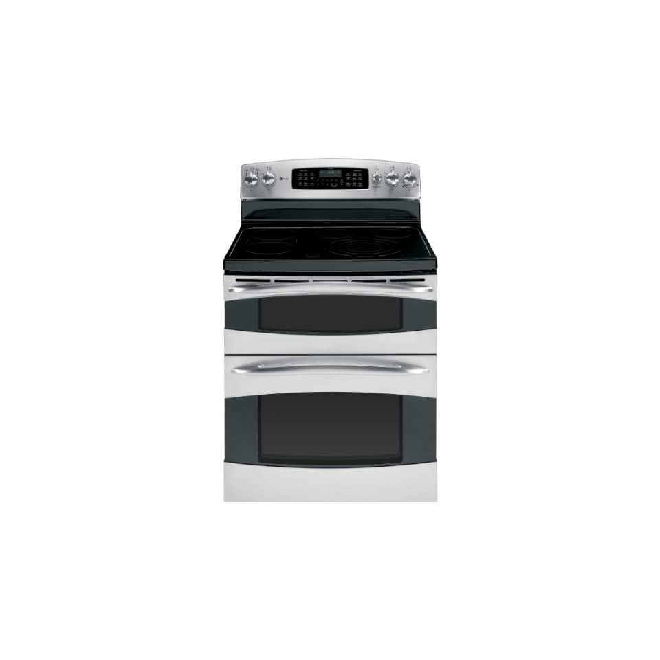 GE PB975STSS Profile 30 Stainless Steel Electric Smoothtop Double Oven Range   Convection