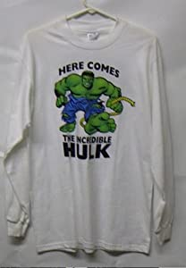 Here Comes INCREDIBLE HULK 2 Sided Long Sleeve Shirt