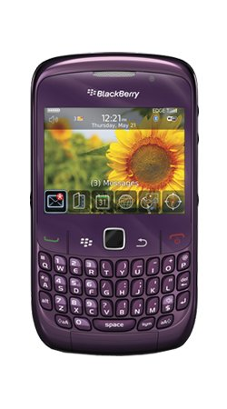Blackberry 8520 Curve Purple Mobile Phone on O2 Pay as You Go / Pre-Pay /PAYG (Including £10 Airtime)