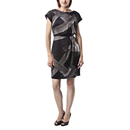 Product Image Mossimo Black: Women's Novelty Dress - Black/Grey Print&nbsp;16