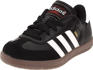 Buy adidas Samba Classic Leather Soccer Shoe (Toddler Little Kid Big Kid) by adidas
