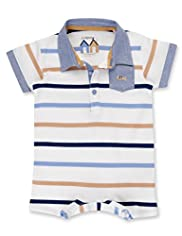 Autograph Pure Cotton Striped All-in-One
