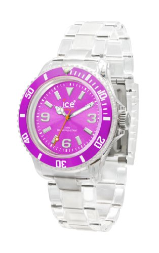 IceWatch Women's CL.PE.S.P.09 Classic Collection Purple Dial Clear Plastic Watch