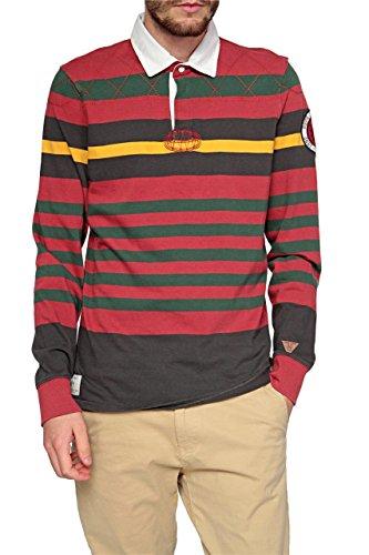 Pepe Jeans Polo a Maniche Lunghe HAROLD, uomo, Colore: Rosso, Taglia: XL