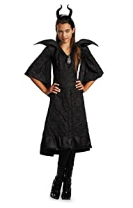 Disguise Disney Maleficent Movie Christening Black Gown Girls Classic Costume Lg 10-12