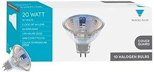 Triangle Bulbs 71267 20-watts MR11 with Cover Lens Halogen Flood Reflector Light Bulbs, 10-Pack