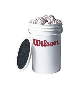 Buy Wilson A 1060 Bucket of Baseballs (18 baseballs) by Wilson