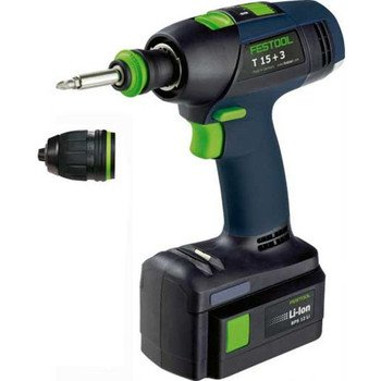 Festool T 15+3 Li-Ion 2.6 Ah Cordless Drill/Driver