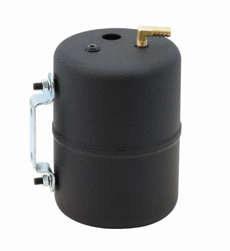 Mr. Gasket 3701 Black Painted Vacuum Canister With Fittings