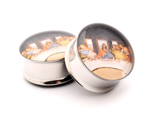 Da Vinci'S Last Supper Picture Plugs - 3/4 Inch - 19Mm - Sold As A Pair front-1043937