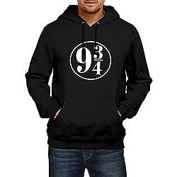 Fanideaz Men's Cotton Harry Potter Circle Station Hoodies for Men_Black_XL
