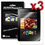 "Fintie Kindle Fire HD 7"" (2nd Generation 2012) Ultra Clear Screen Protector 3 Pack Individual Retail Package (2012 Release / will only fit Amazon Kindle Fire HD 7, Previous Generation - 2nd)"