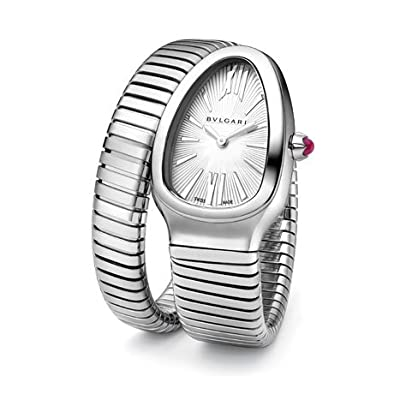 Bvlgari Watch Serpenti Silver Opaline Dial Ladies Watch 101828