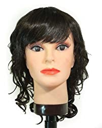 14 Dark Brown spiral / bangs synthetic wig