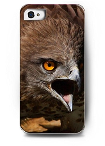 Ouo Stylish Series Case For Iphone 4 4S 4G With The Design Of Face Of A Fierced Eagle