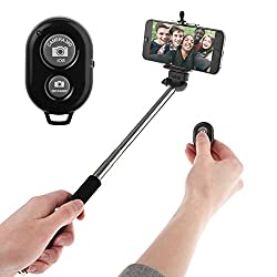 Selfie Stick for iPhone and Android Mobiles, DMG Selfie Stick Monopod with Bluetooth Remote (Multicolour)