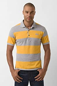 Short Sleeve Slim Pique Bar Stripe Polo