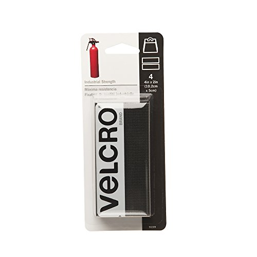 "VELCRO Brand  - Industrial Strength - 2"" x 4"" Strips, 4 Sets - Black"
