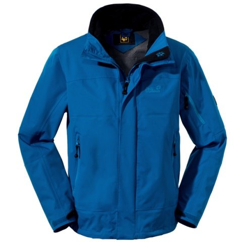 Jack Wolfskin Regenjacke Resolution Jacket Men electric blue (Gr&#246;&#223;e: L)