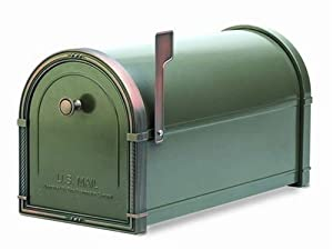 Architectural Mailboxes Coronado Mailbox with Antique Copper Accents, Graphite Bronze