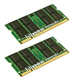 Kingston 4 GB DDR2 SDRAM Memory Modules 4 GB (2 x 2 GB) 667MHz DDR2667/PC25400 DDR2 SDRAM 200pin KTA-MB667K2/4G