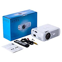 Everycom X7 LED Projector 1800 Lumens HDMI USB VGA TV Home Theater white 3D
