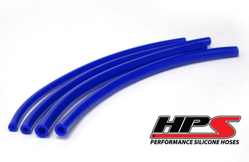 Hps 3.5Mm High Temp Silicone Vacuum Hose Blue X 5 Feet front-379914