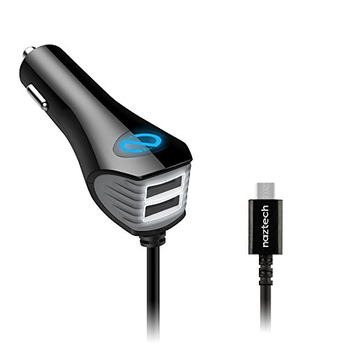 Naztech N420 TRiO Micro USB Car Charger for Smartphones - Bl