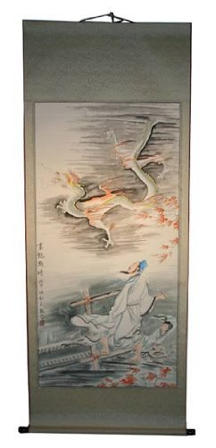 Large Hand Painting Chinese Scroll Art