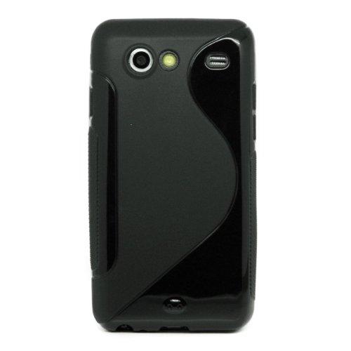KGC_DOO Custodia + pellicola WAVE NERO per Samsung I9070 Galaxy S Advance - Custodia WAVE per Samsung I9070 Galaxy S Advance - Cover + Pellicola Protettiva Schermo