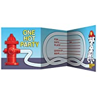 Creative Converting Firefighter 8 Count Enhanced Party Invitations from Creative Converting